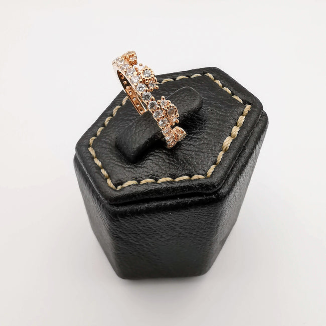 Golden Crown Ring [SIZE 16] - 18K Gold Plate - Jack Fan Collection [006] - Offer Hunts