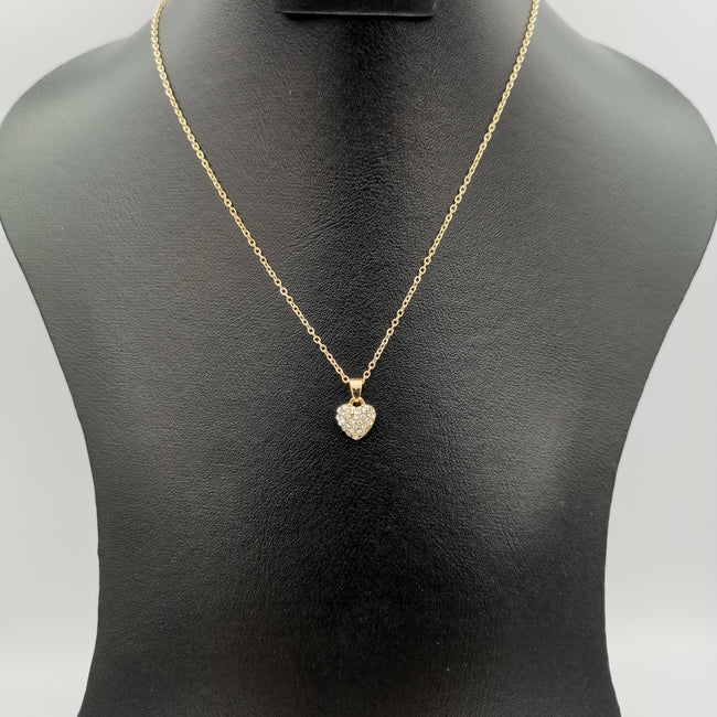 Heart Necklace - Golden and Silver - Offer Hunts