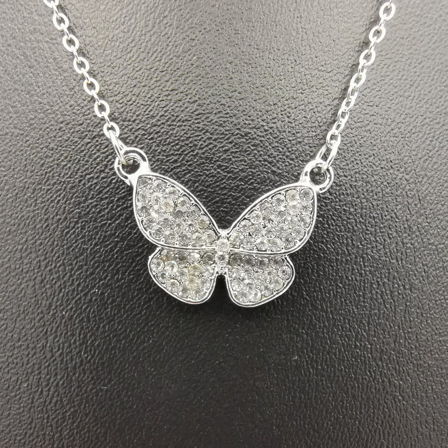 Butterfly Necklace - Golden and Silver - Offer Hunts