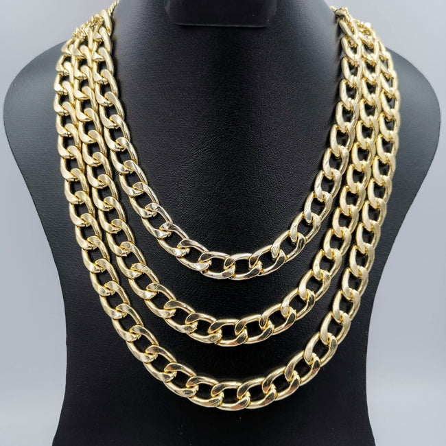 3 Layer Golden Chain Necklace - Offer Hunts
