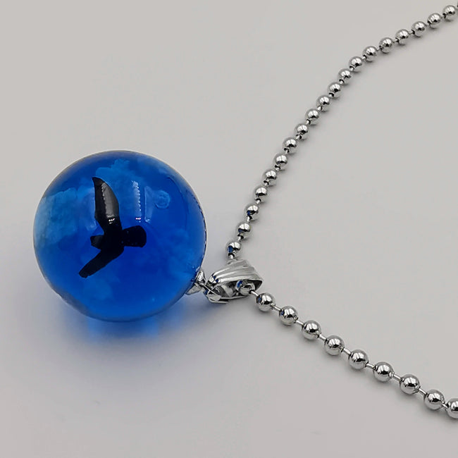 Glow In the Dark Bird Cloud Resin Necklace - 7 Different Colors - Offer Hunts