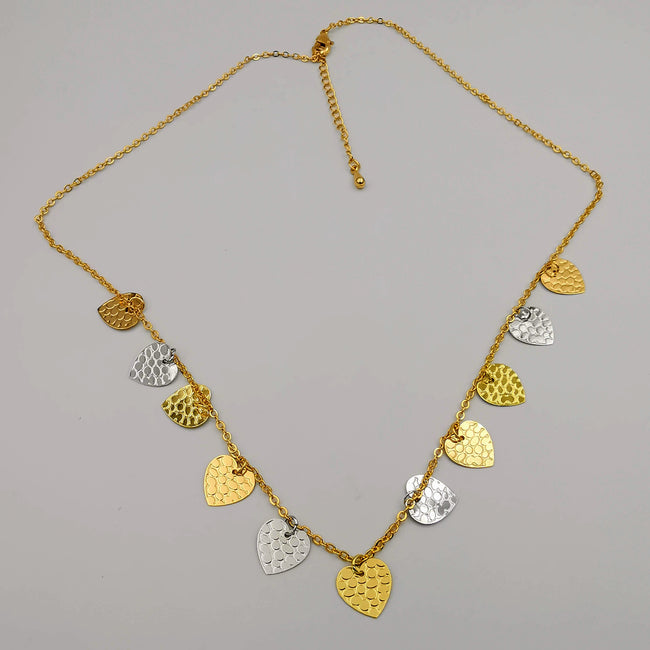 18K Gold Plated Heart Necklace - Offer Hunts