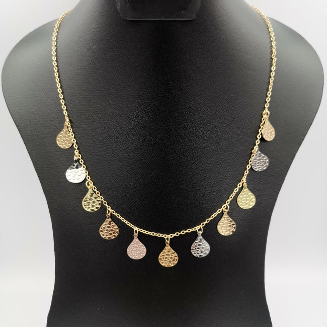 18K Gold Plated Teardrop Necklace - Offer Hunts