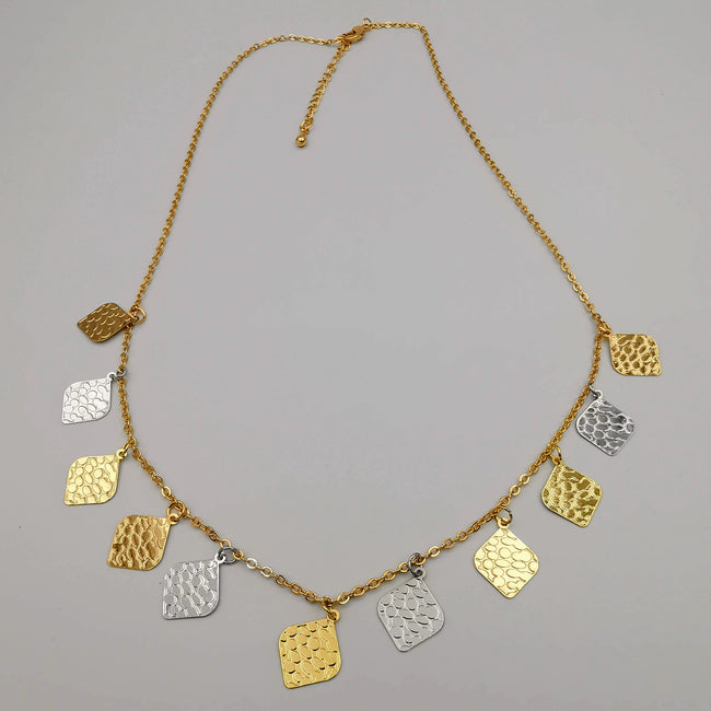 18K Gold Plated Rhombus Necklace - Offer Hunts
