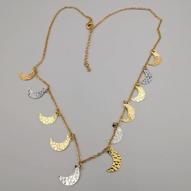 18K Gold Plated Moon Necklace - Offer Hunts