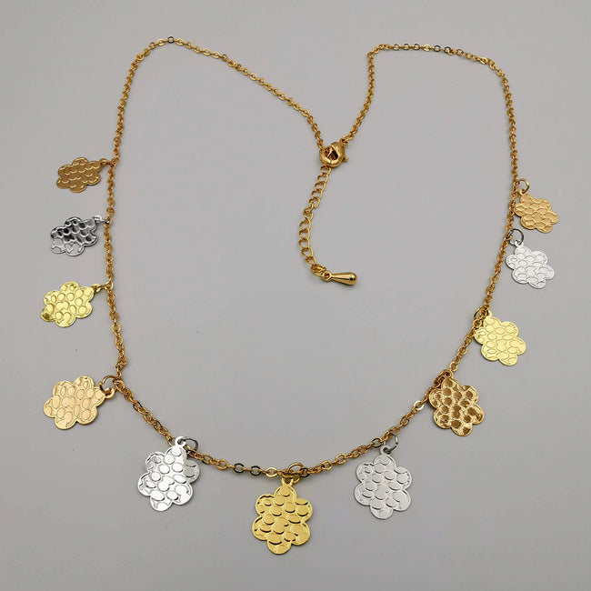 18K Gold Plated Snowflake Necklace - Offer Hunts