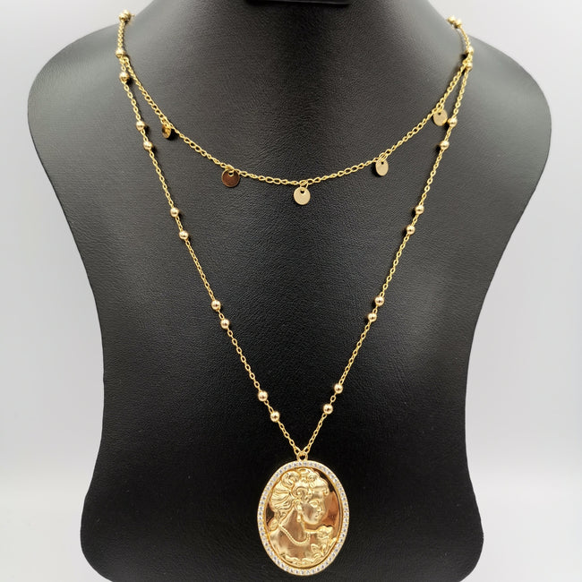 24K Gold Plated Simplistic Camay Necklace - Offer Hunts