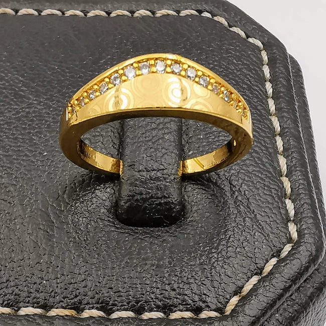 Curved Twins Ring - 24K Gold Plate - Offer Hunts