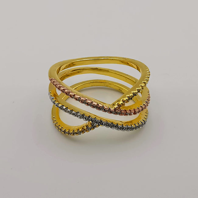 Tri-Color Banded Ring - 24K Gold Plate - Offer Hunts