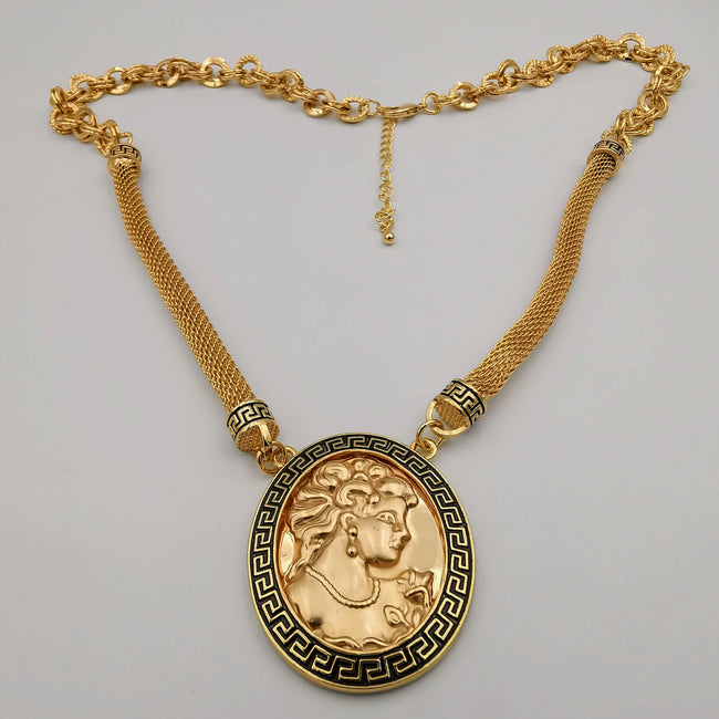 24K Gold Plated Camay Bi-Chain Necklace