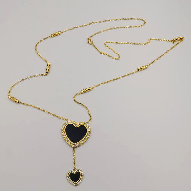 24K Gold Plated Stainless Steel Long Chain Necklace [Style 2]