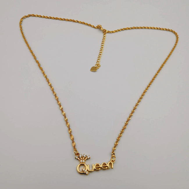 21K Gold Plated Queen Necklace