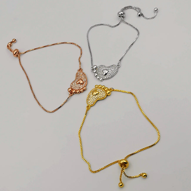 24K Gold Plated Foot Bracelet Set [3 Pieces]