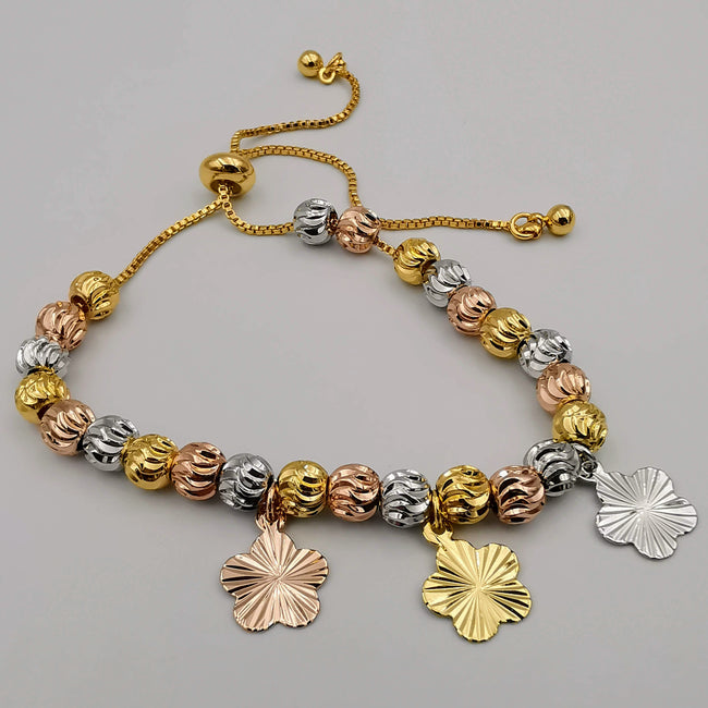24K Gold Plated Tricolor Bracelet [STYLE 1]