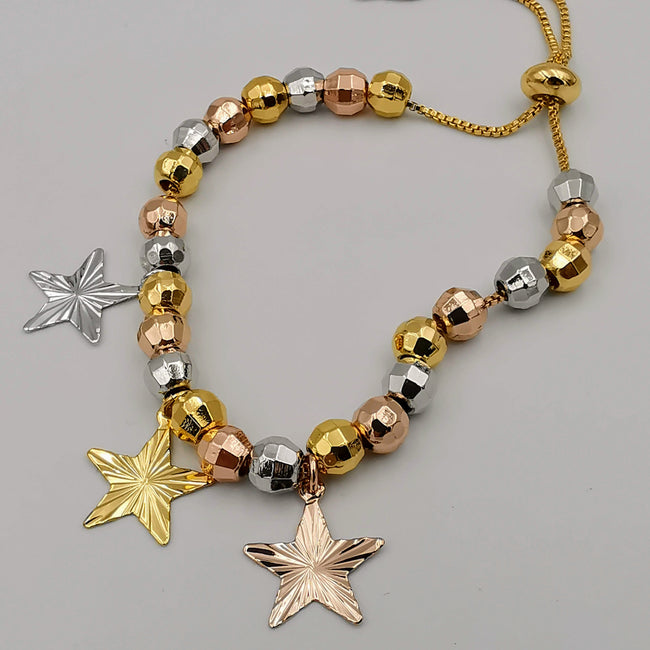 24K Gold Plated Tricolor Bracelet [STYLE 4]