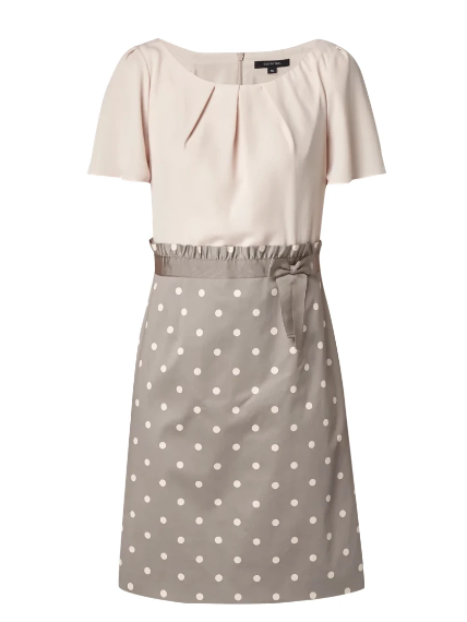 Polka Dot Dress - Grey/Brown - Comma - Offer Hunts