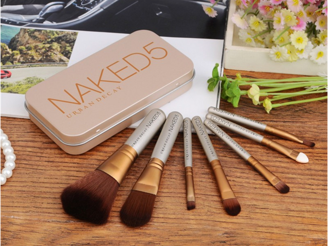 NAKED 7pcs Professional Makeup Brush Travel Kit with MEDIUM Box - Offer Hunts