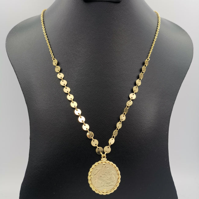 24K Gold Plated Coin Necklace - Style 2 - Offer Hunts