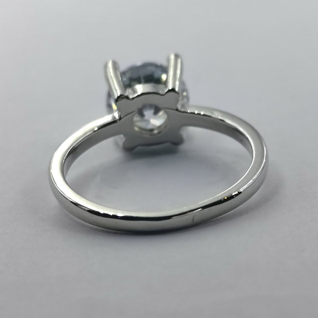 Classic Silver Ring - 4 Prongs and 1 Stone - Offer Hunts