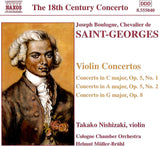 Saint-Georges, Joseph Bologne de: Violin Concerto No.9 in G major, Op. 8 [Study Edition] (AE237/SE)