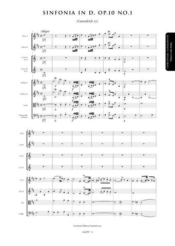 Cannabich, Christian: Symphony in D major, Op. 10, No. 1 (Cannabich 51) (AE076)