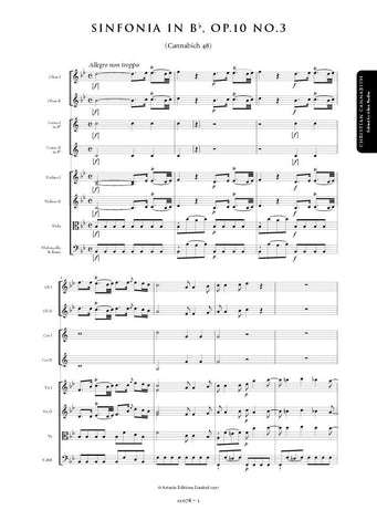 Cannabich, Christian: Symphony in B flat major, Op. 10, No. 3 (Cannabich 48) (AE078)