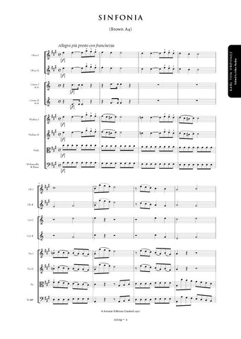 Ordonez, Karl von: Symphony in A major (Brown A4) (AE119)