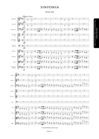 Dittersdorf, Carl Ditters von: Symphony in D major (Grave D6) (AE133)