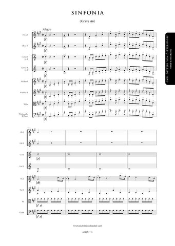 Dittersdorf, Carl Ditters von: Symphony in A major (Grave A6) (AE136)