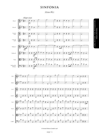 Dittersdorf, Carl Ditters von: Symphony in B flat major (Grave Bb5) (AE137)