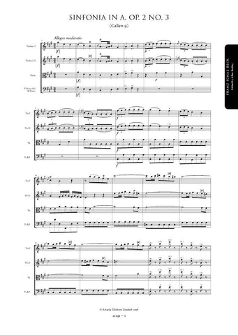Beck, Franz: Symphony in A major, Op. 2, No. 3 (Callen 9) (AE191)