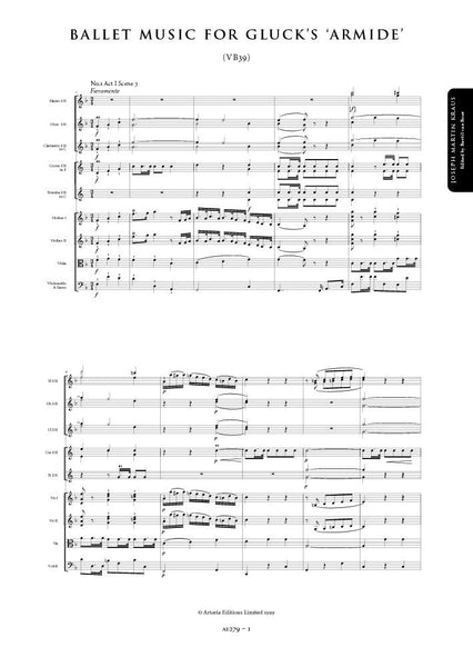 Kraus, Joseph Martin: Additional Movements for Gluck's Armide (VB 39) (AE279)