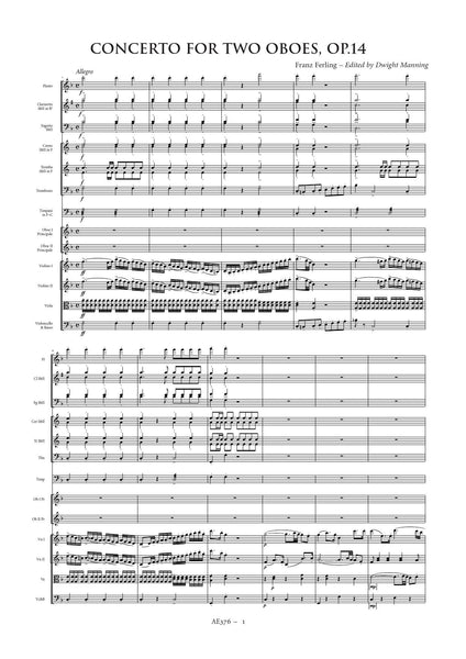 Ferling, Franz: Double Oboe Concerto in F major (AE376)