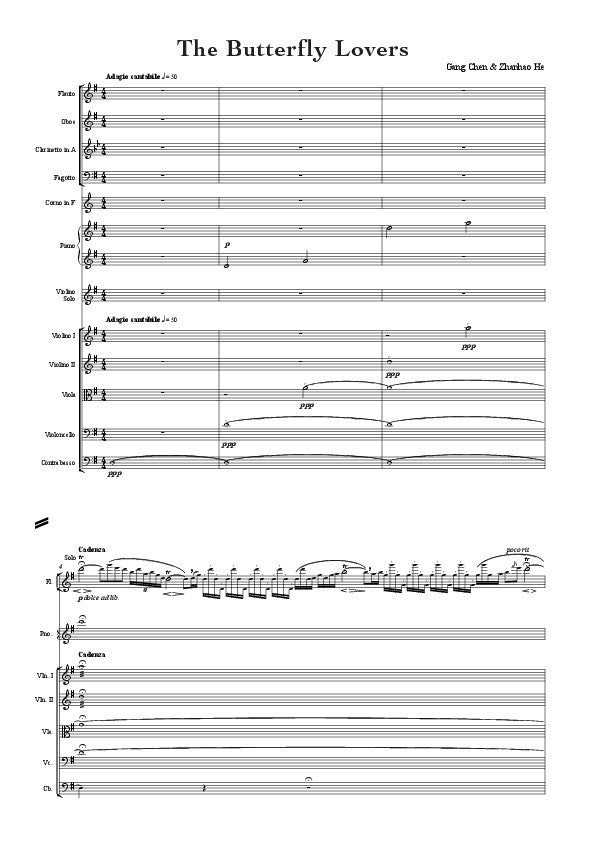 butterfly lovers violin solo pdf