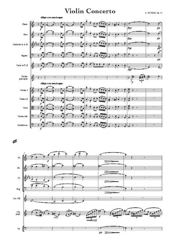 Dvorak, Antomin: Violin Concerto in A minor, Op. 53 (arr. for String Quintet & Wind Quintet) (AEGC5)