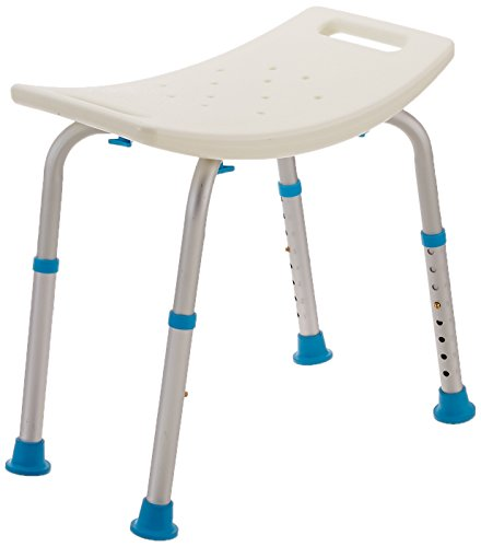 Adjustable Bath and Shower Chair with Non-Slip Seat