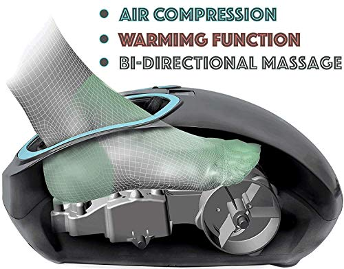 Foot Massager with Heat  Air Compression Stocking Stuffer - Circulation, Feet Legs