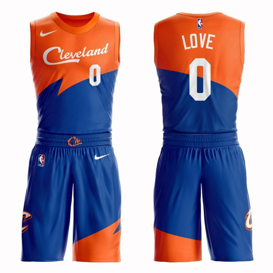 a02bc7c2f73e Cleveland Cavaliers  0 Kevin Love City 2019 Jersey and Pant Set ...
