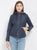 Cotton Nation Ladies Full Sleeve Jacket With Hood ,Navy