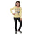 Genius Girls Full Sleeves T-Shirt,Yellow