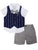 Wonderchild Boys 3pcs Set, Navy/White/Grey