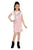 Flower Girl Girls Dungaree With Top, Pink/White MCG749