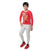 Genius Boys Full Sleeves T-Shirt With Jogger Pant,Red/Grey