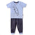 Smart Baby Infant Boys T-Shirt With Capri Set, Sky/Grey