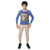 Genius Boys Full Sleeves T-Shirt With Jogger Pant,Royal Blue/Beige