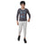 Genius Boys Full Sleeves T-Shirt With Jogger Pant,Dark Grey/Grey