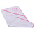 Smart Baby Baby Girls Towel, White/ Deep Pink