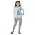 Genius  Girls Full Sleeves 2 pcs Jog Set ,Light Blue/Grey