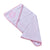 Smart Baby Baby Girls Towel, White/Baby Pink