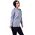 Step N Style Women Full Sleeve Round Neck Sweater , Light Blue